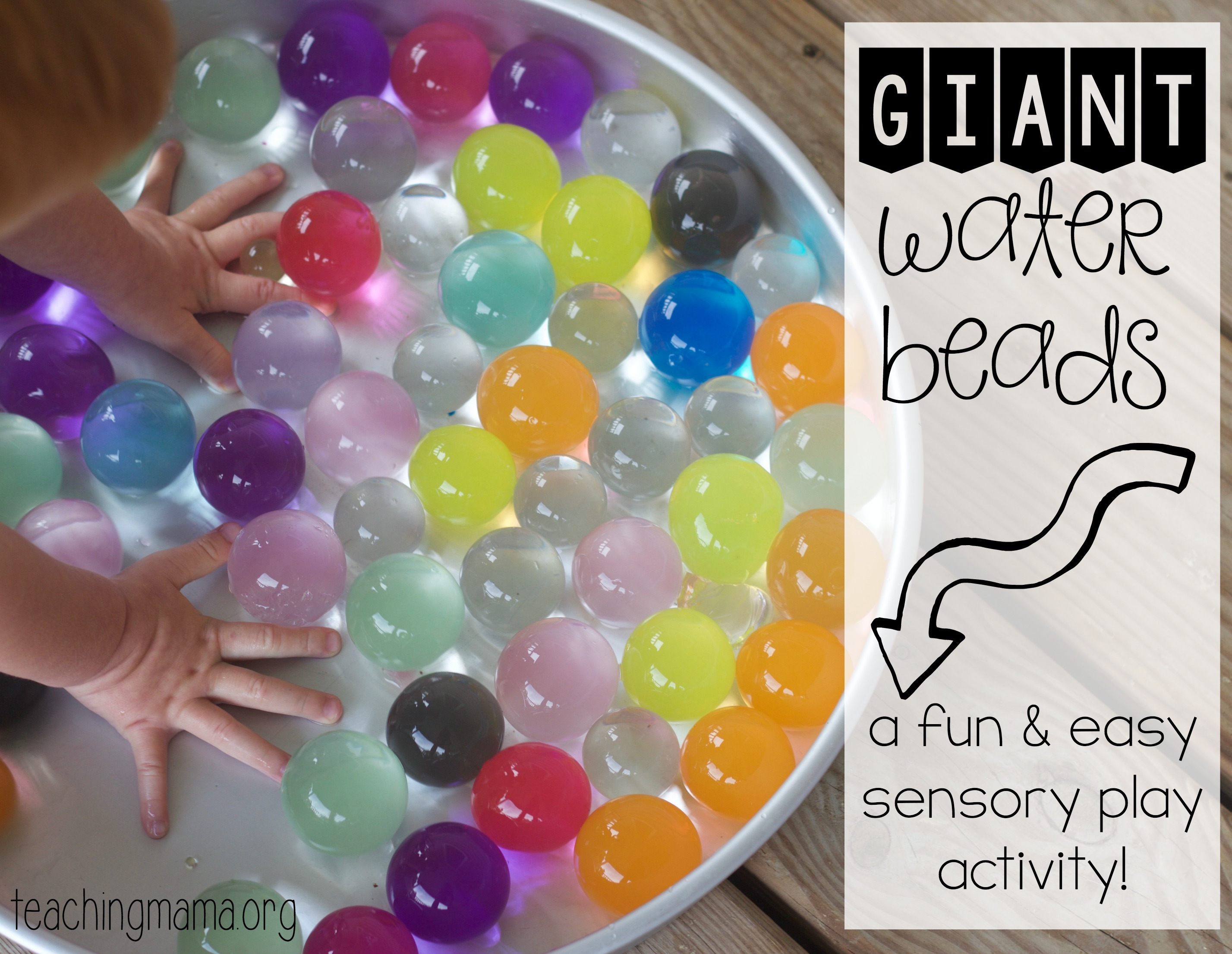 Giant Water Beads on Fine Motor Skills Activities For Kids