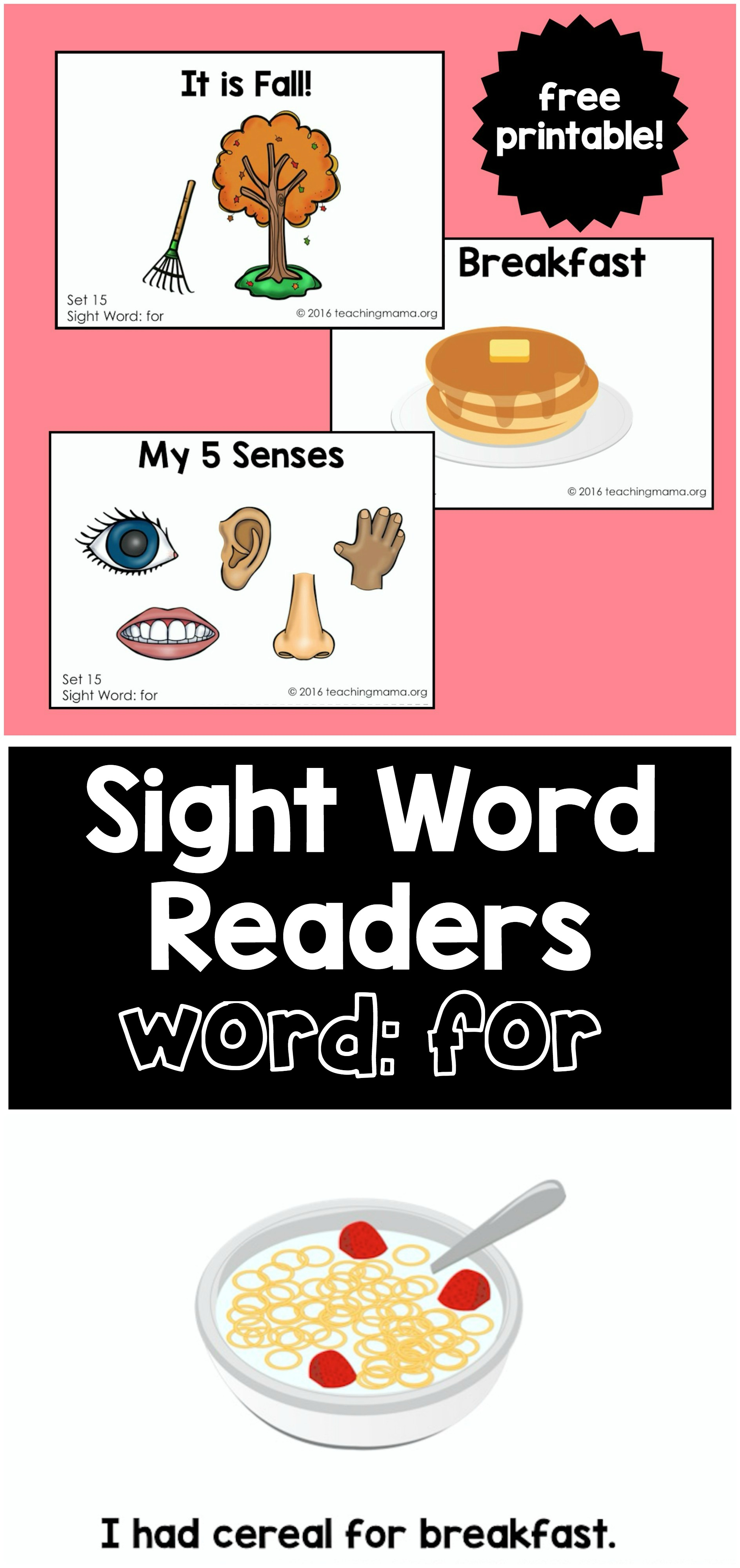 Sight Word Readers- for