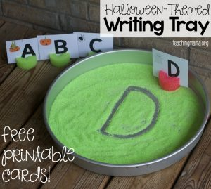 halloween writing tray