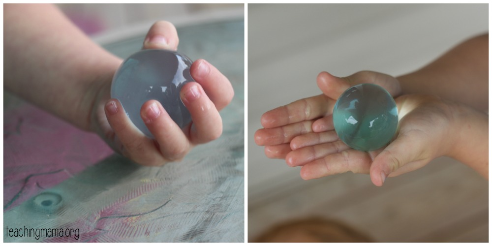 giant water beads holding