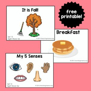 """Sight Word Readers for the Word """"For"""""""