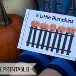 Five Little Pumpkins – Free Rhyme Booklet