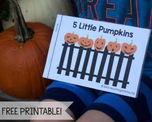 Five Little Pumpkins – Free Rhyme Booklet