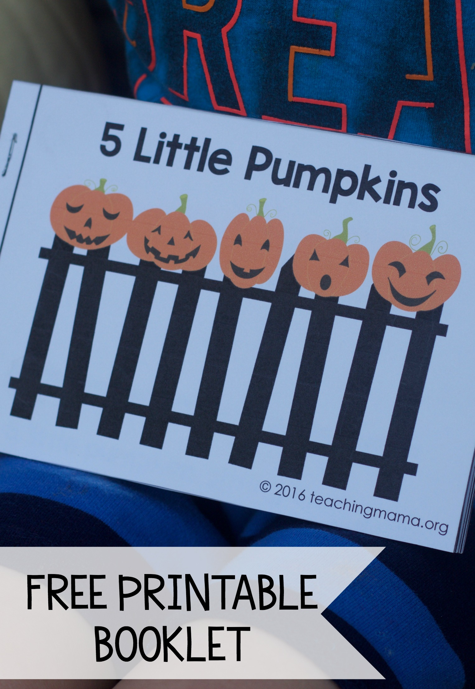 image relating to Five Little Pumpkins Printable named 5 Minimal Pumpkins - No cost Rhyme Booklet