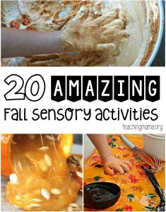 20 amazing fall sensory activities