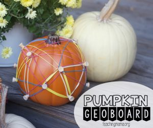Pumpkin Geoboard