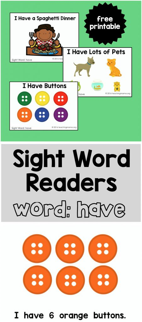 Sight Word Readers for the Word Have