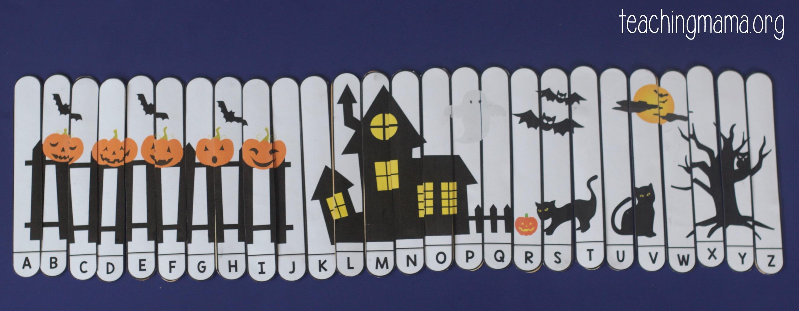 Halloween Alphabet Puzzle