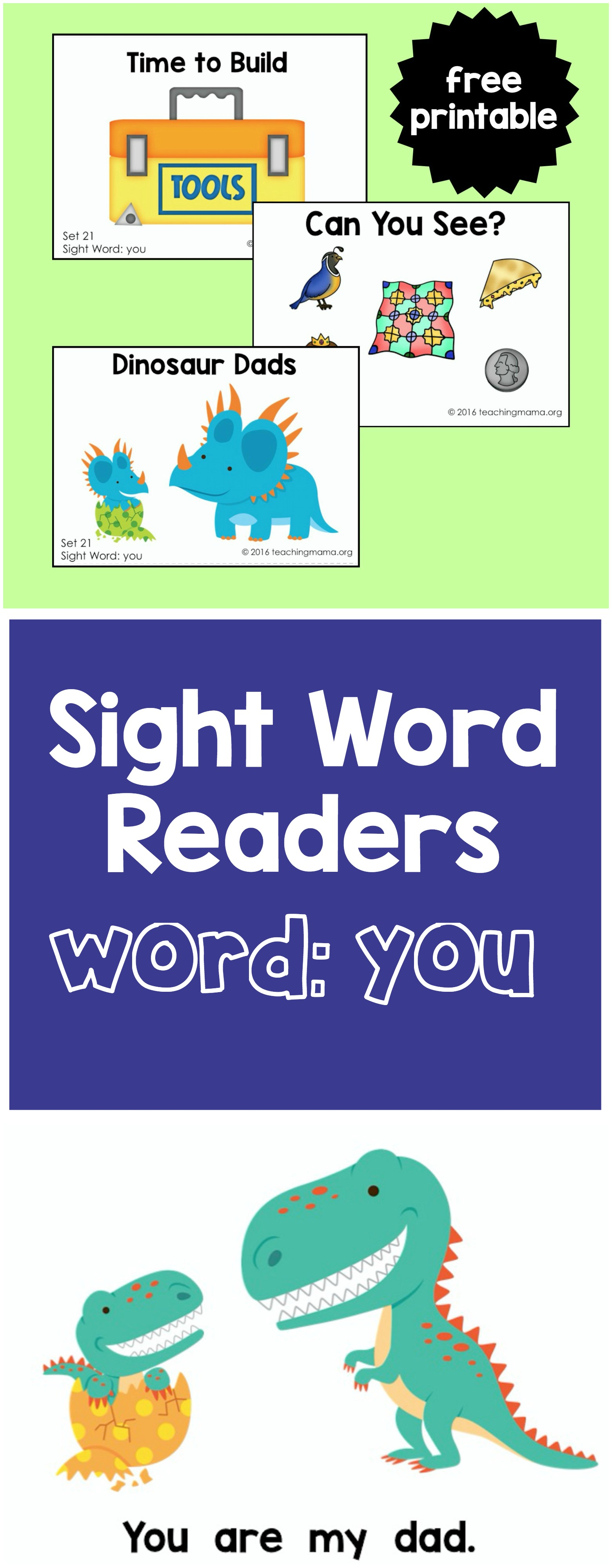 Sight Word Readers - You