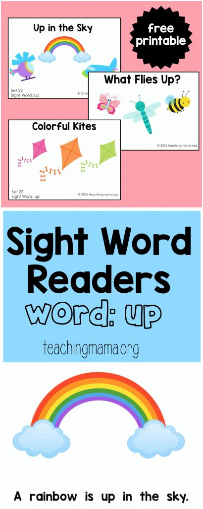 "Sight Word Readers for the Word ""Up"""