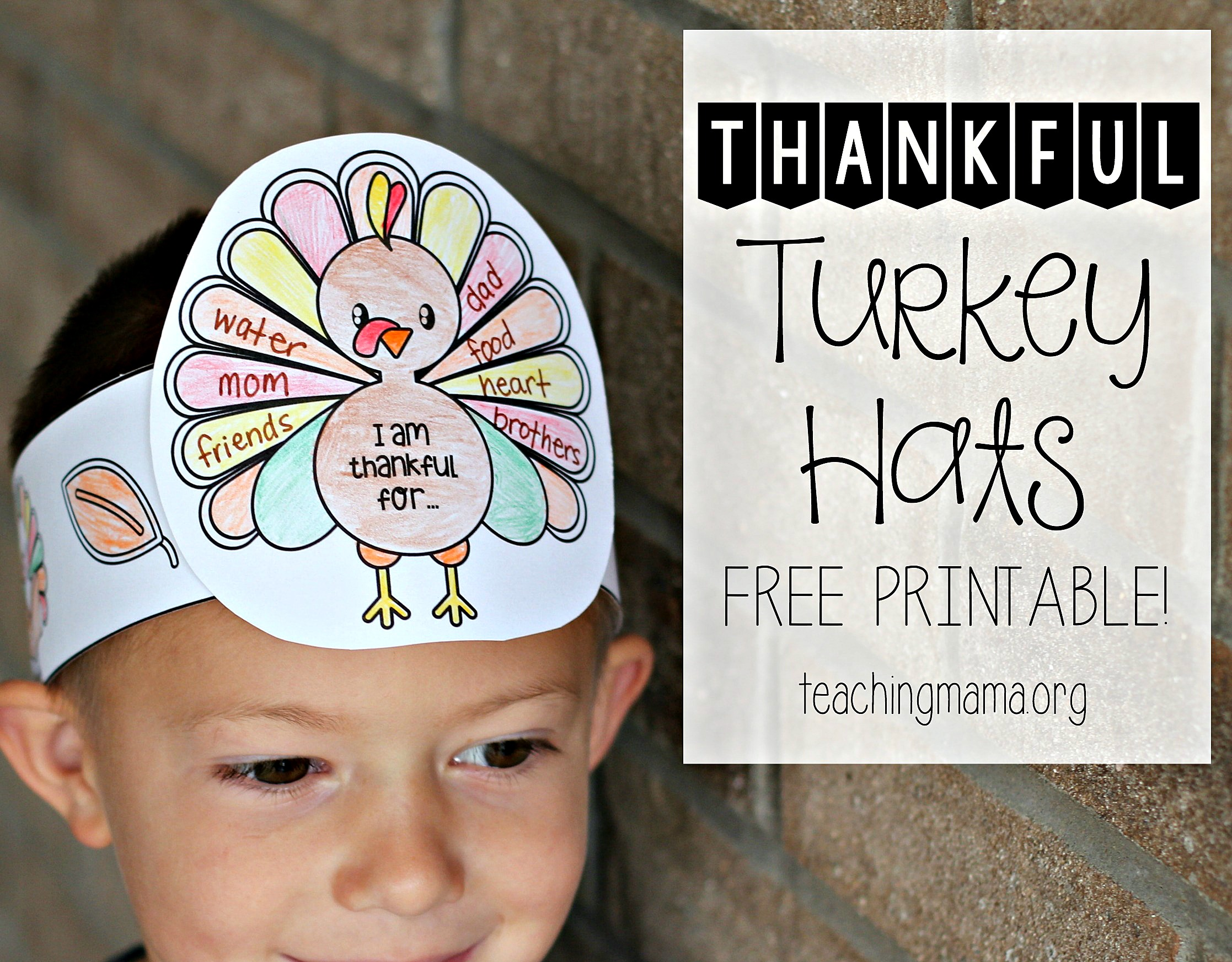 Thankful Turkey Hats