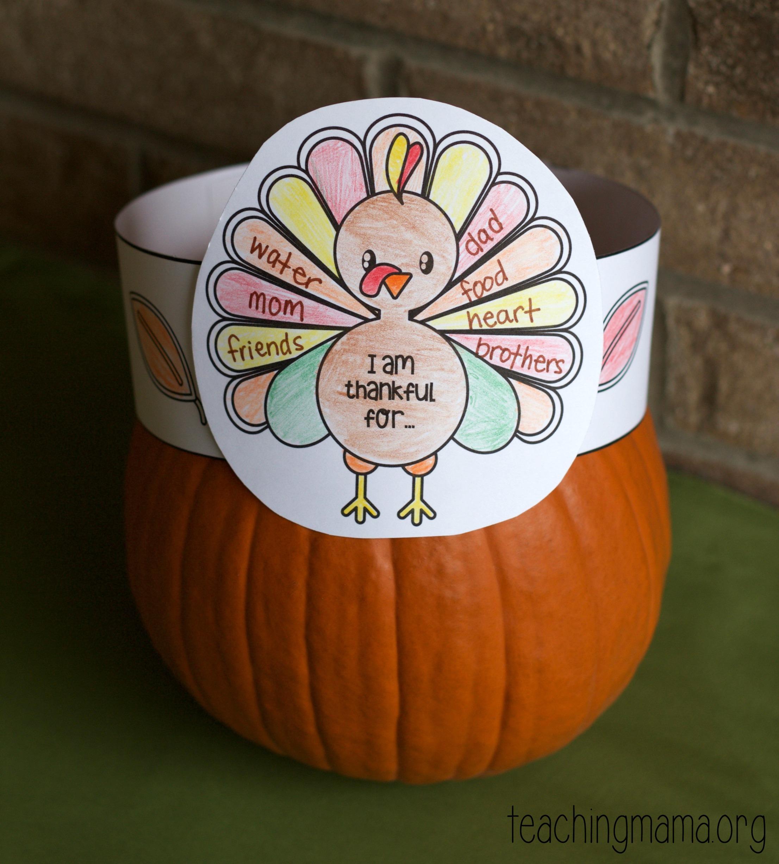 thankful turkey hats