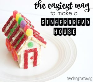 The Easiest Way to Make a Gingerbread House