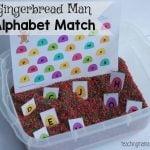 Gingerbread Man Alphabet Match Game