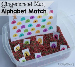 Gingerbread Man Alphabet Match Game