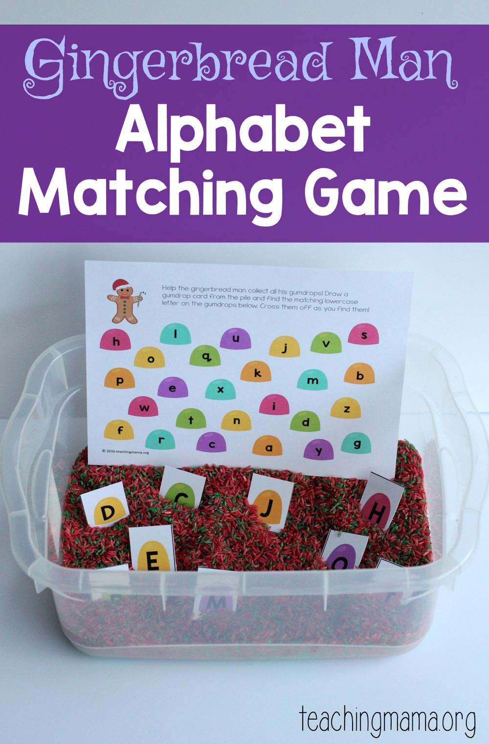 Gingerbread Man Alphabet Matching Game