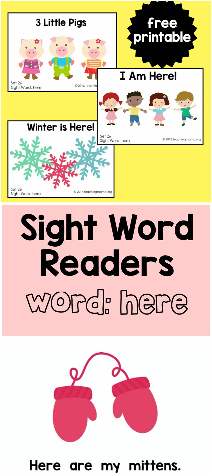 Sight Word Readers for Here