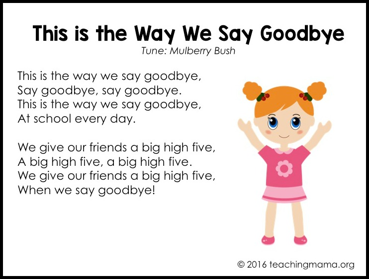 Goodbye Songs For Preschoolers on Preschool Graduation Letter To Children