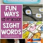 Fun Ways to Practice Sight Words