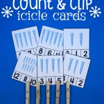 Count and Clip Icicle Cards