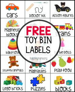 Free Toy Bin Labels