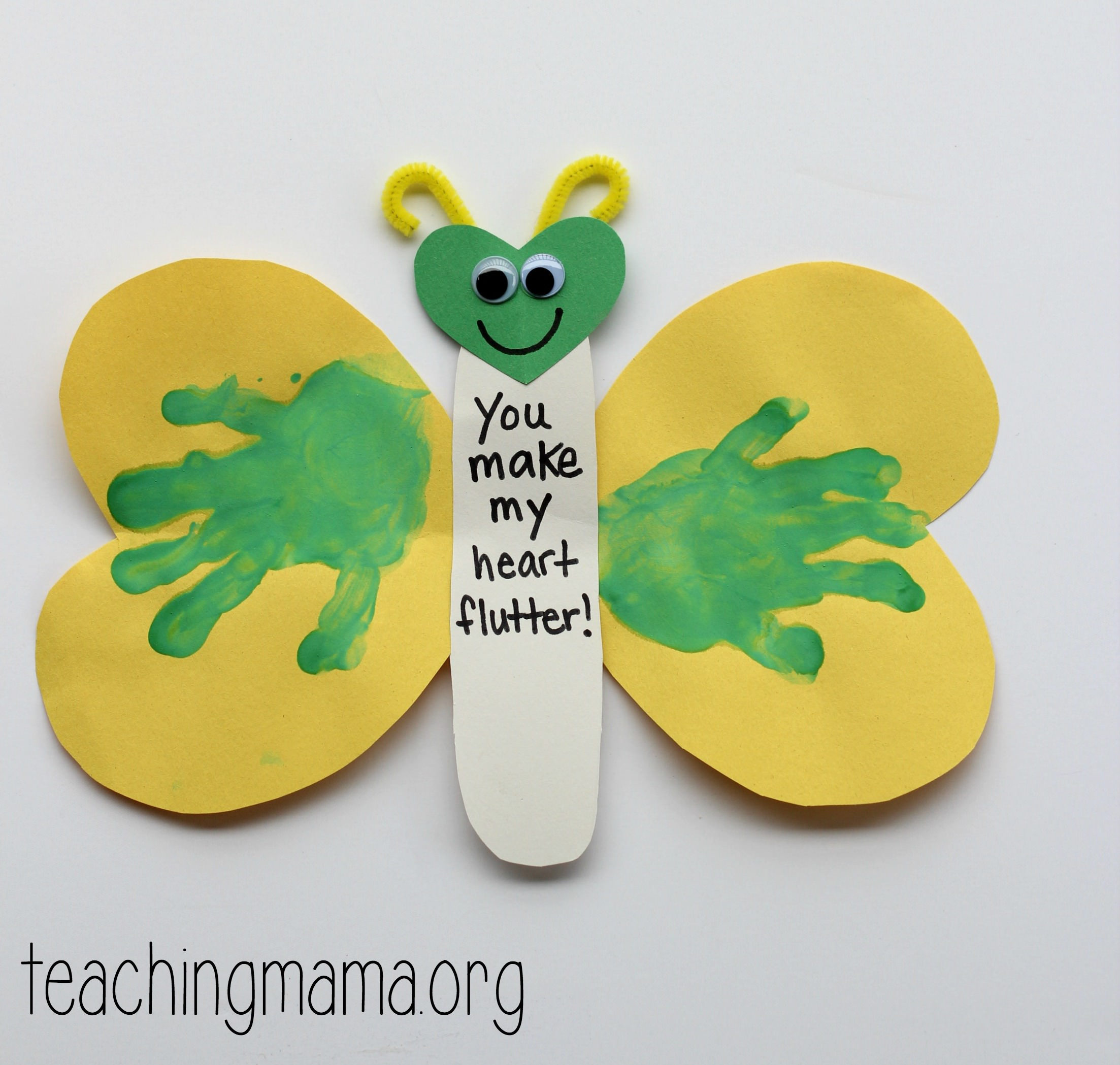 You Make My Heart Flutter Valentine Craft