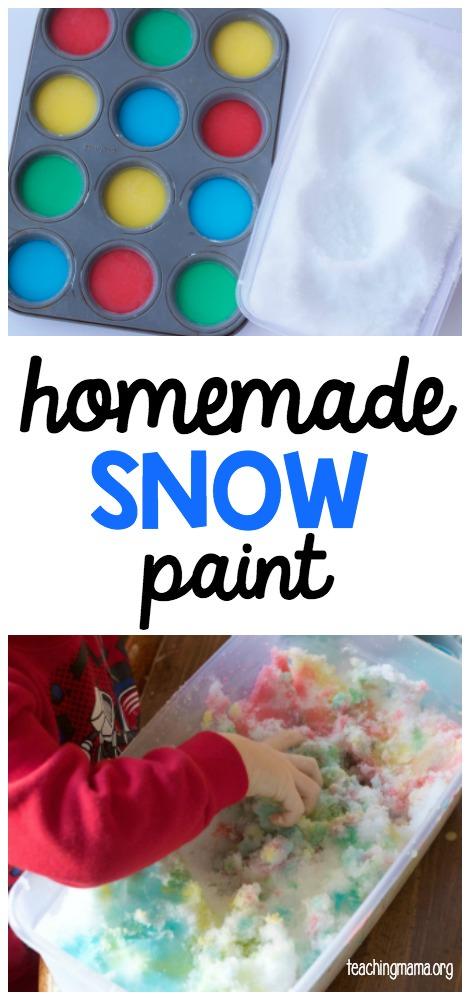homemade snow paint recipe