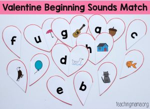 Valentine Beginning Sounds Match