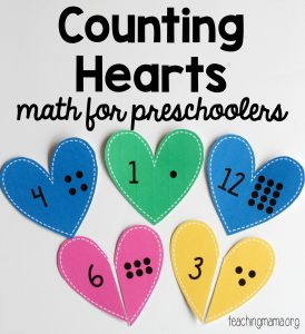 counting math hearts