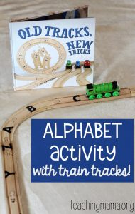 Alphabet Activity with Train Tracks