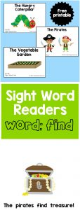 "Sight Word Readers for the Word ""Find"""