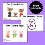 "Sight Word Readers for the Word ""Three"""