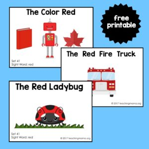 "Sight Word Readers for the Word ""Red"""