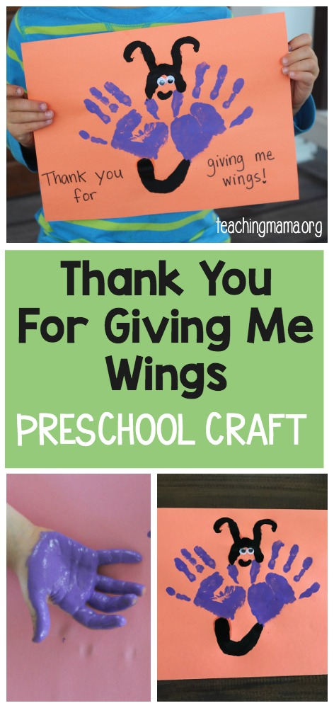 Thank You For Giving Me Wings Craft