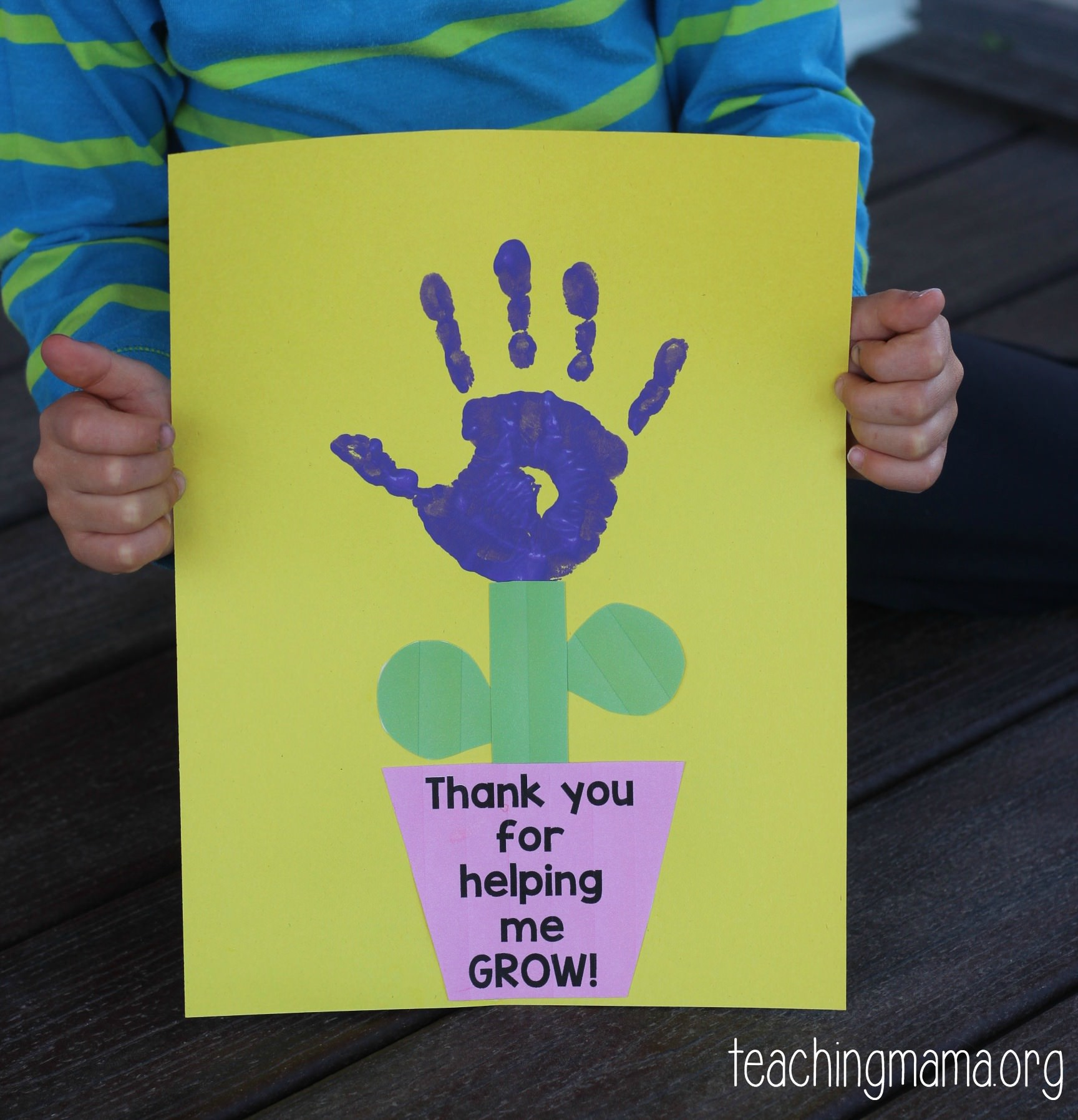 thank you teacher craft ideas thank you for helping me grow craft 7229