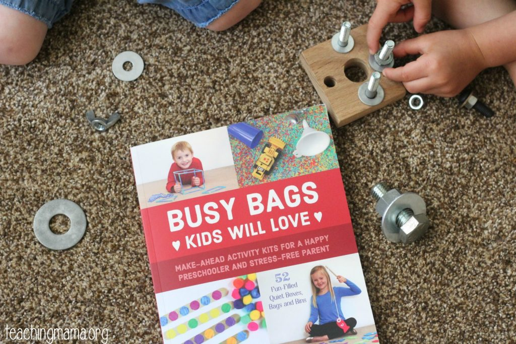 Nuts and Bolts Busy Bag Idea