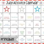 July Activity Calendar