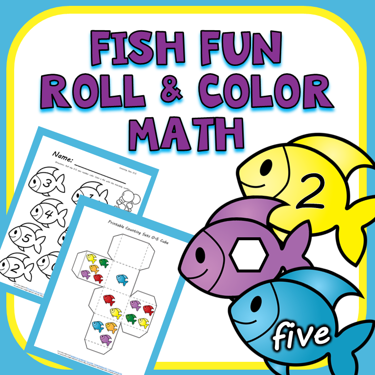 Summer Fish Roll and Color Math Games - Teaching Mama
