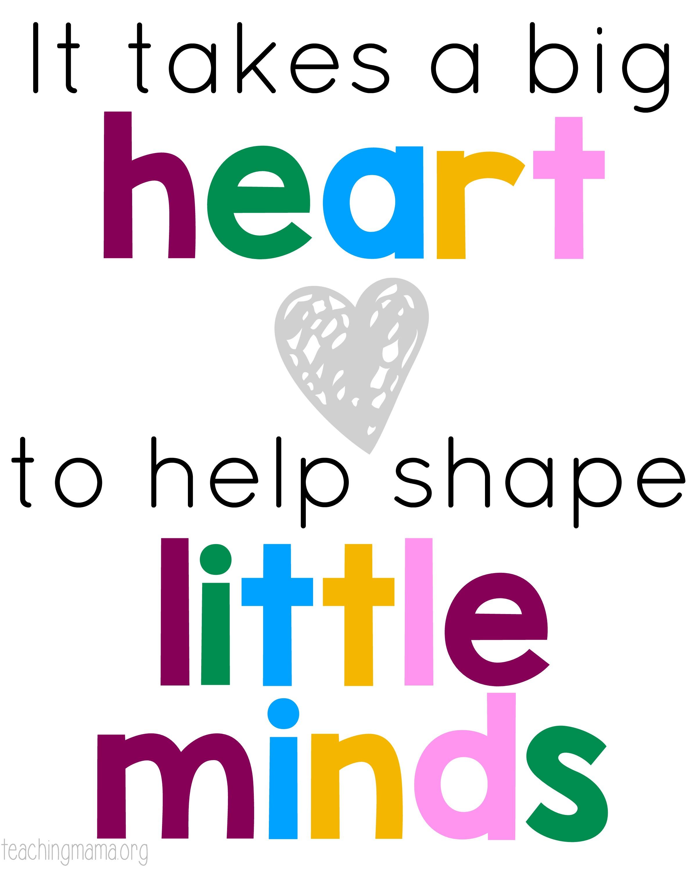 Big Heart Quote - Teaching Mama