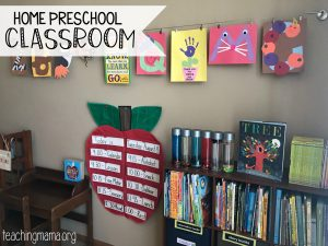 Home Preschool Organization