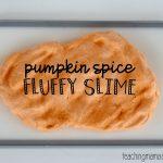 Pumpkin Spice Fluffy Slime