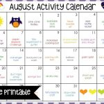 August Activity Calendar