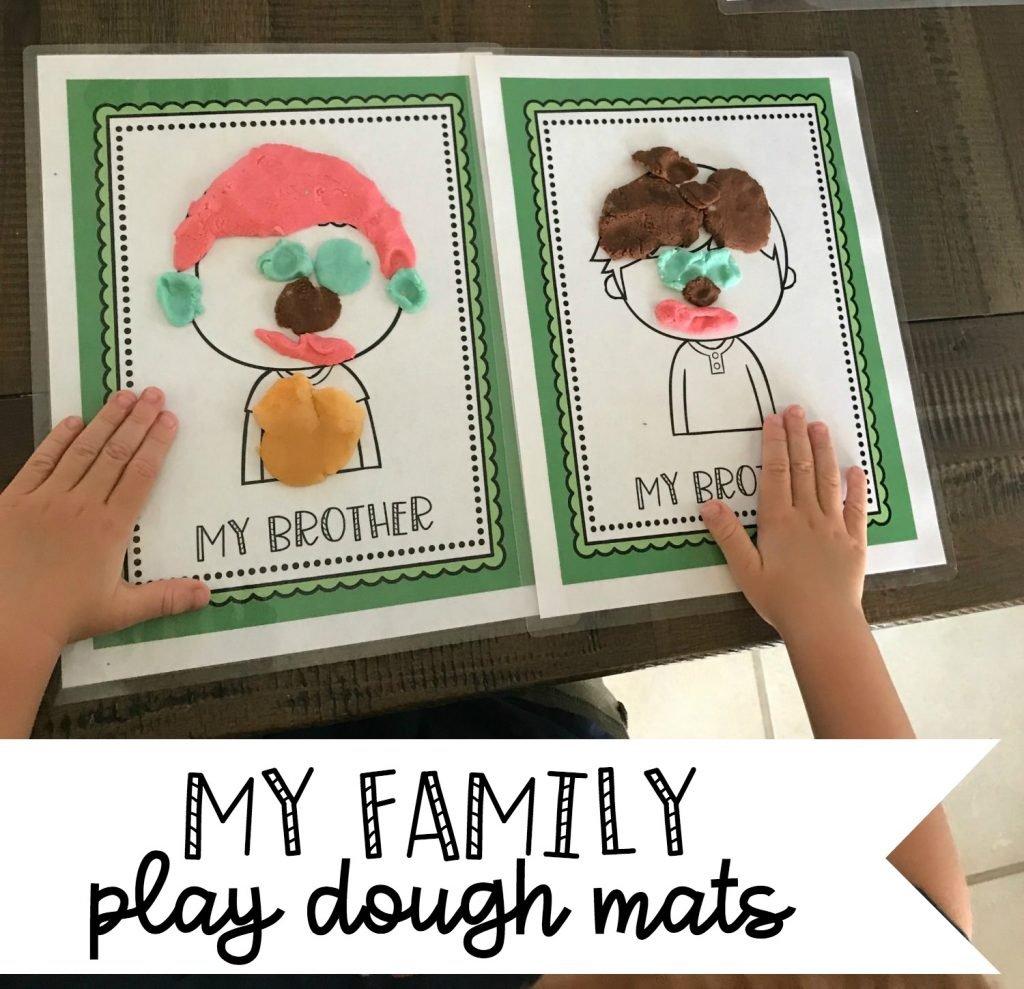 my family play dough mats