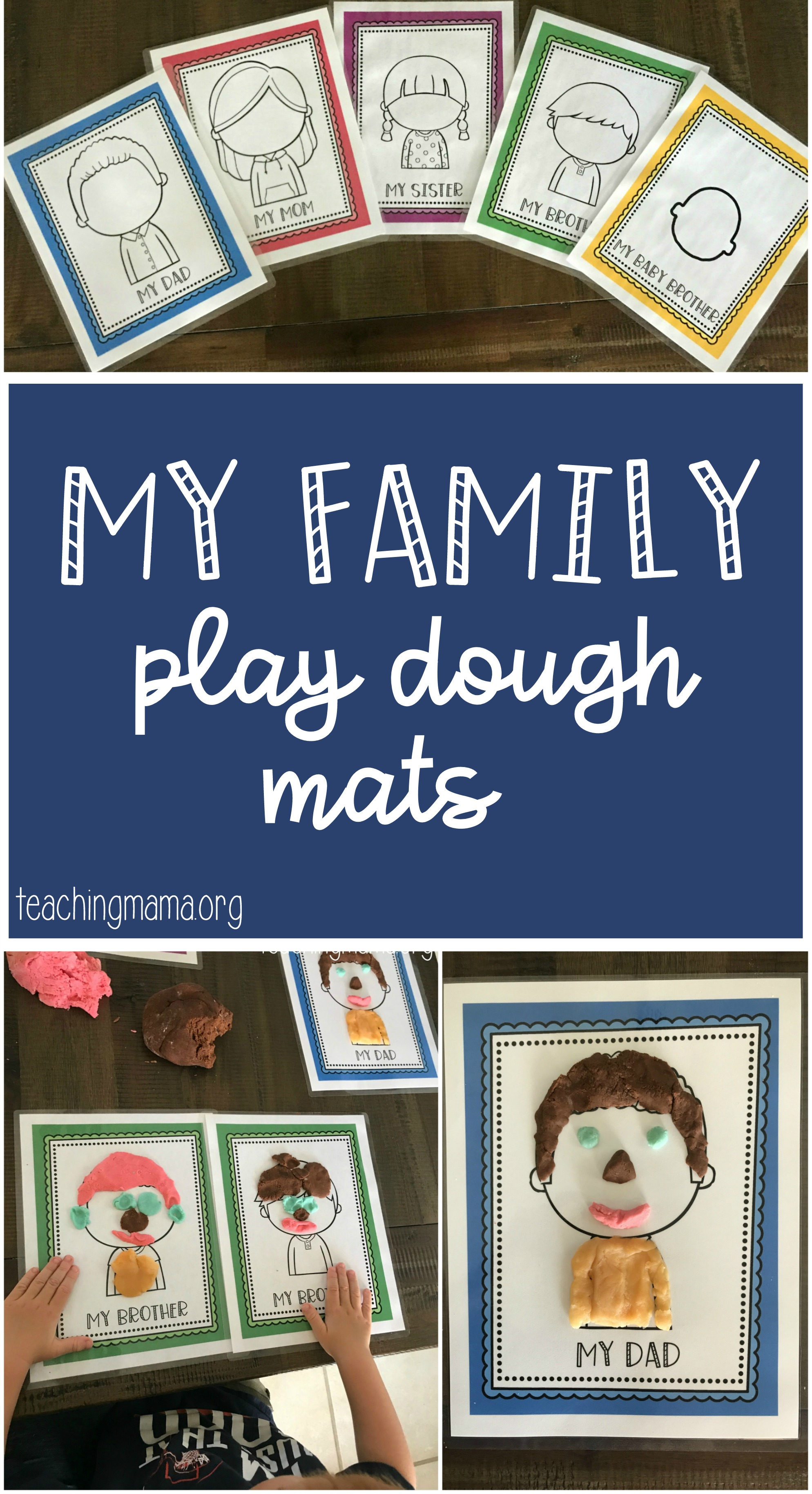 My Family - Play Dough Mats