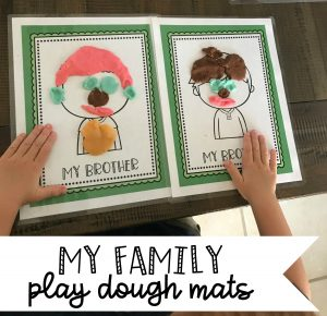 my family play dough mats