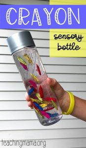 Crayon Sensory Bottle
