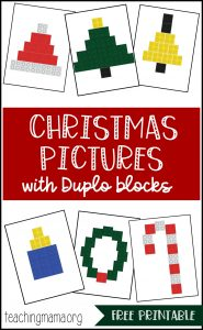 Christmas Pictures Using Duplo Blocks