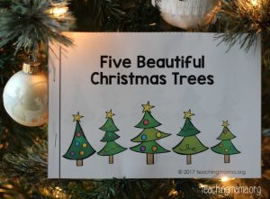 Five Beautiful Christmas Trees Booklet