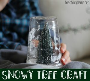 snowy tree craft