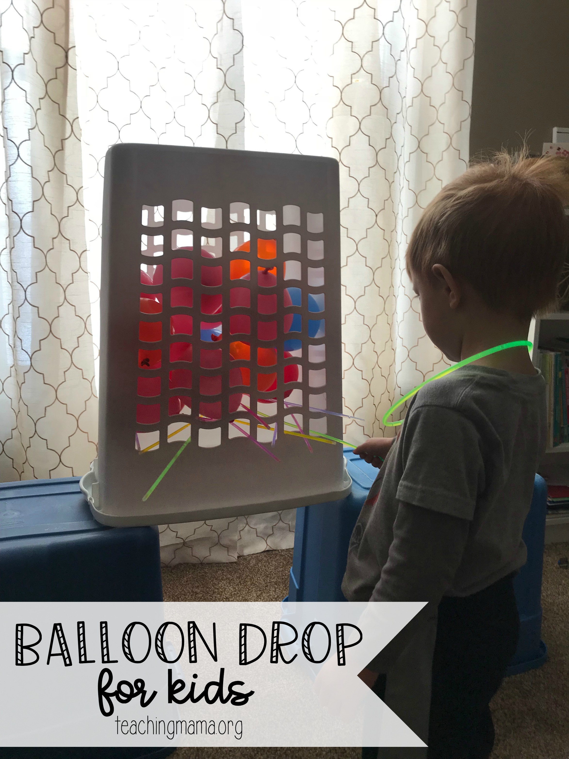 Balloon Drop for Kids - perfect for New Year's Eve!
